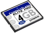 Compact Flash карта 4GB Kingston
